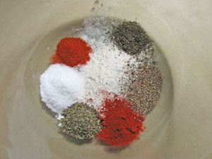 spices for Rhubarb Chicken