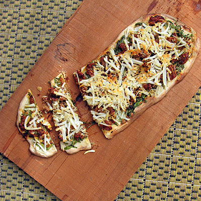 Italian sausage and potato flatbread