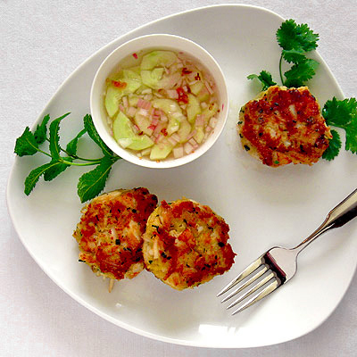 scallop & crab cakes