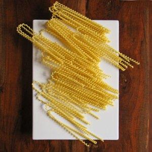 hand made fusilli pasta