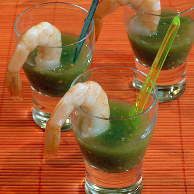 shrimp gazpacho shooters