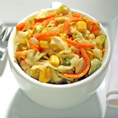 creamy chipotle coleslaw with corn
