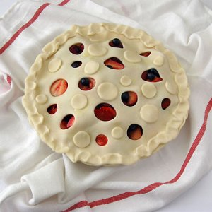 summer berry tart ready for oven