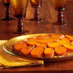 sweet potato upside down gratin
