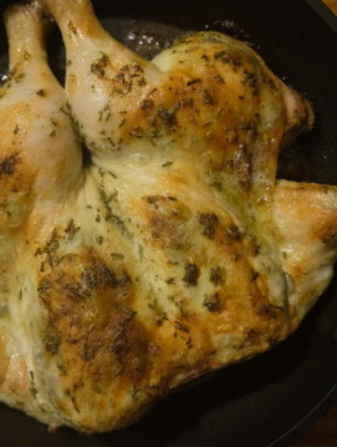 Rosemary and Lemon Spatchcock Chicken
