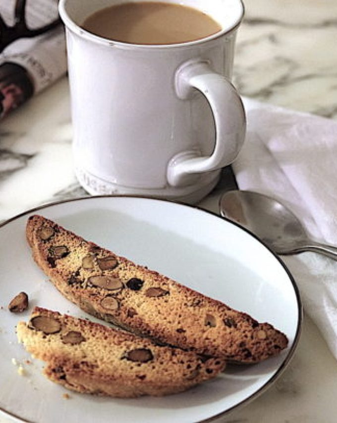 Almond and Pistachio Biscotti