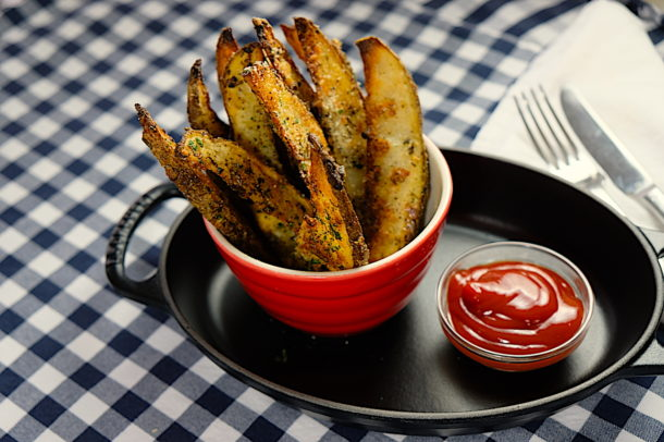 Baked Rosemary Parmesan Fries