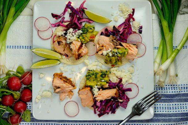 Seared Salmon Fish Tacos