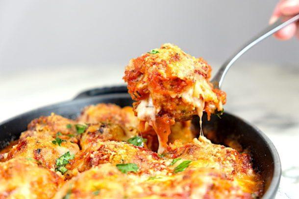 Chicken Parmigiana Meatballs