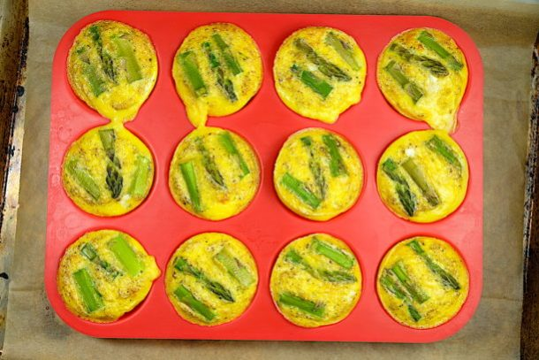 Keto scrambled egg muffins
