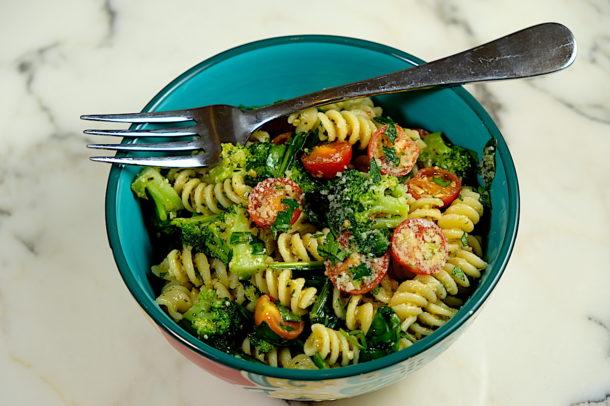 Pesto Parmesan Pasta Salad