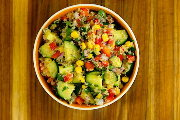 Cucumber Quinoa Summer Salad