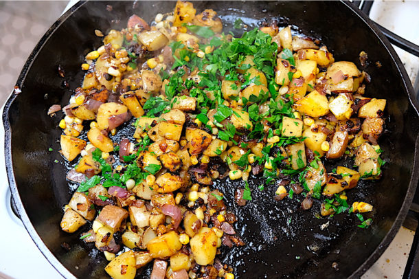 Corn potato hash