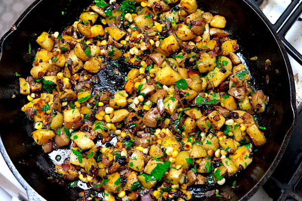Potato corn hash