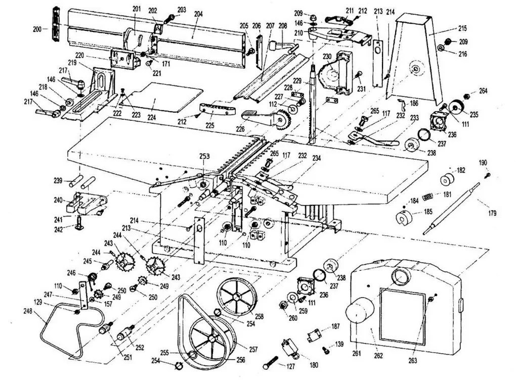 SIP 01454 Planer Thicknesser Diagram B