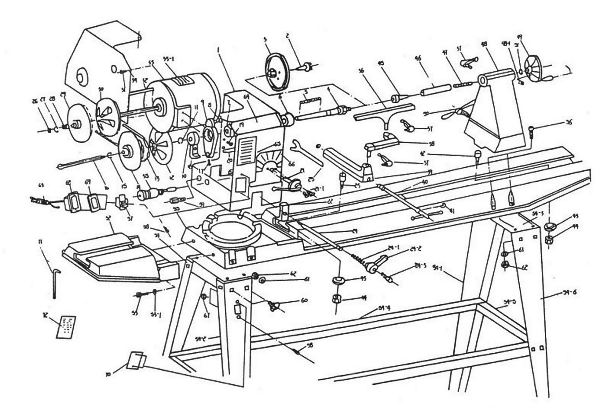 Sip 36 Swivel Head Wood Lathe Diagram
