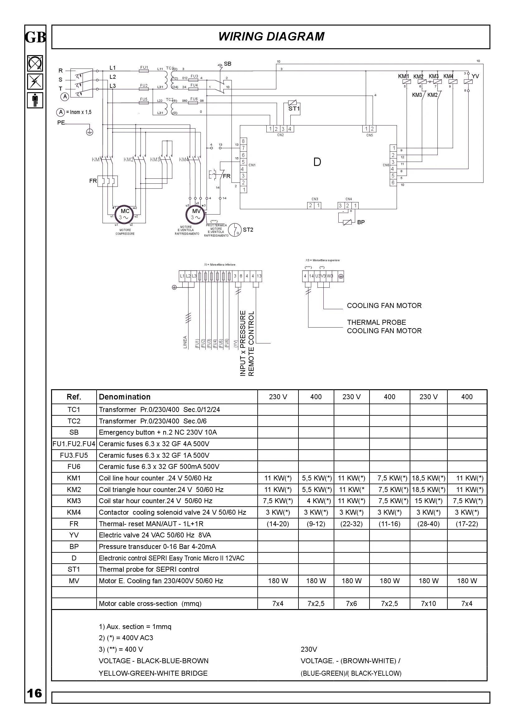 Compressor Slide Valve Wiring Diagram Auto Electrical Arb Twin 34