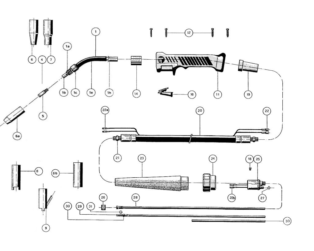 SIP 05502 Plus 15 Mig Torch Diagram