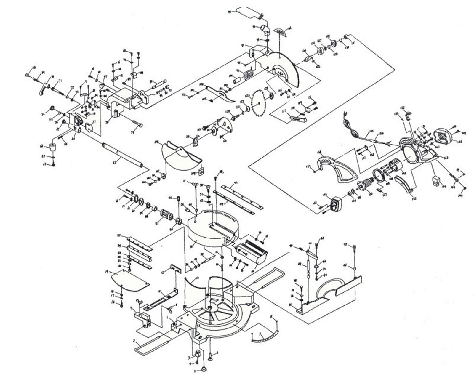 hight resolution of miter saw diagram