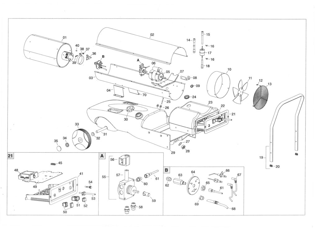 SIP 09047 Fireball 1645S Heater Diagram