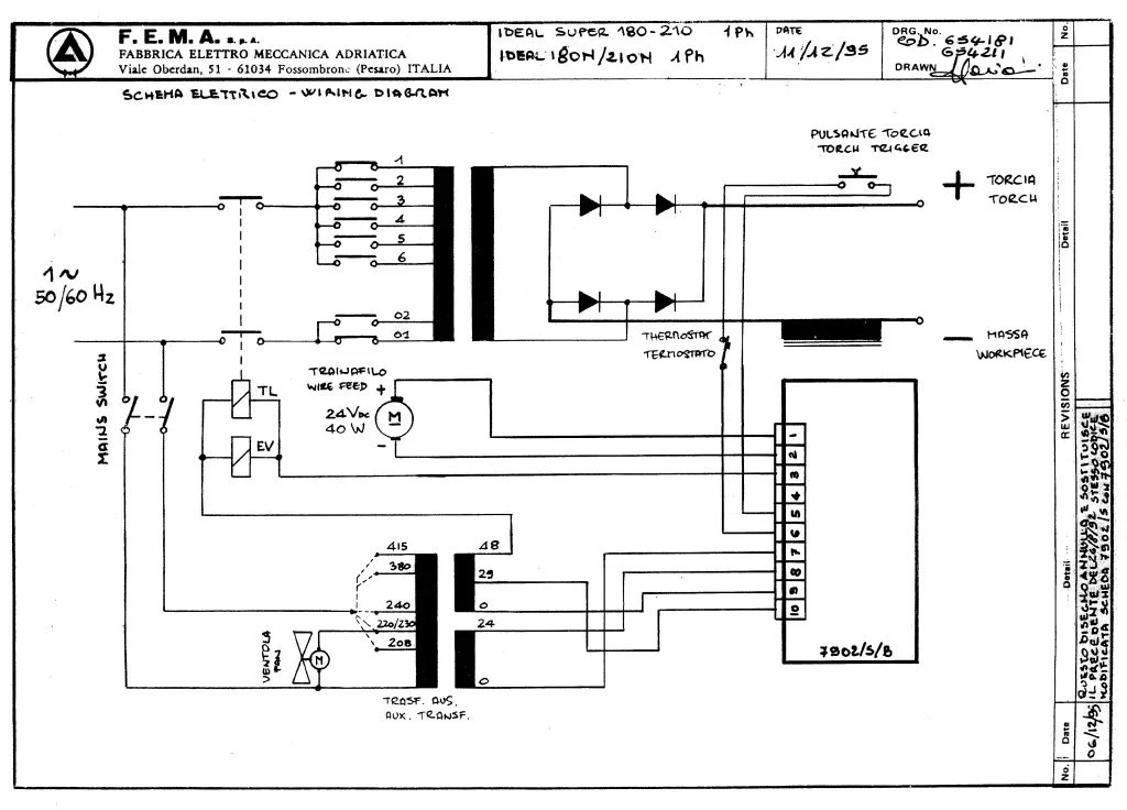 SIP 02601 Ideal 210N 240V Circuit Diagram