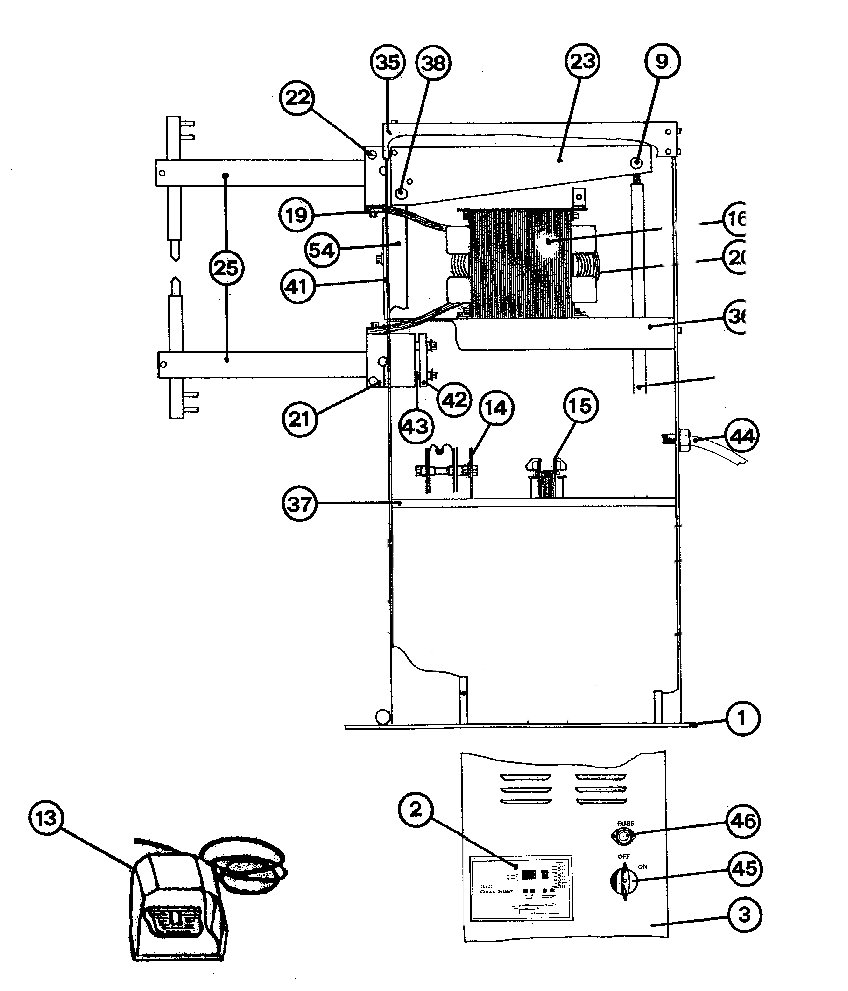 SIP 03031, 03041, 03051, 25061 & 25062 Spot Welder Diagram