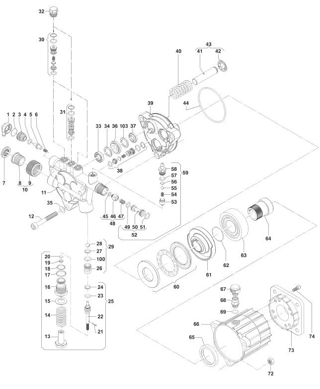 SIP Tempest TP570 Pressure Washer Diagram