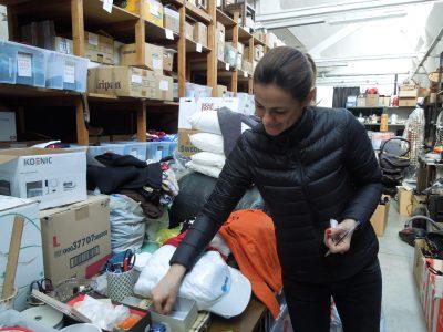 Emmanuelle nel magazzino in Via Lenticchia a Camerlata