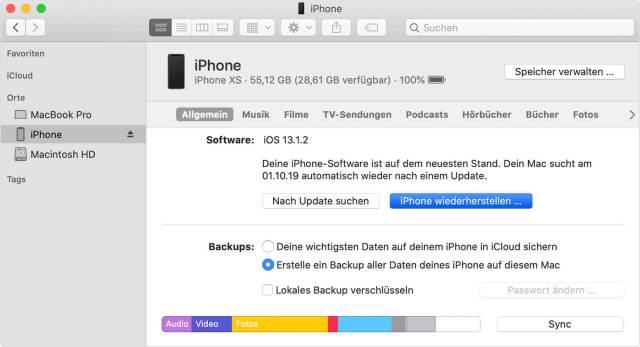 Reset iPhone to factory settings »Sir Apfelot