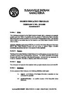 Higher Education Ordinance Amendment 6