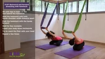 Backward and forward stretching with hammock – exercise #107