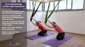 Stretching circles with hammock – exercise #114