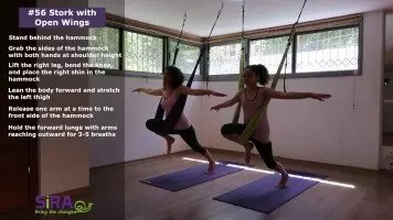 Stork with Open Wings – exercise #56