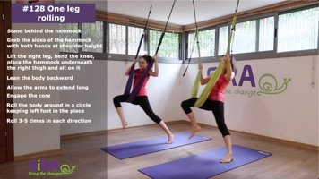 One leg rolling – exercise #128