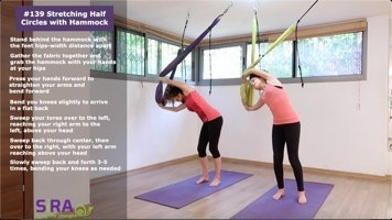 Stretching Half Circles with Hammock – exercise #139