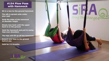 Plow Pose with Hammock – exercise #154