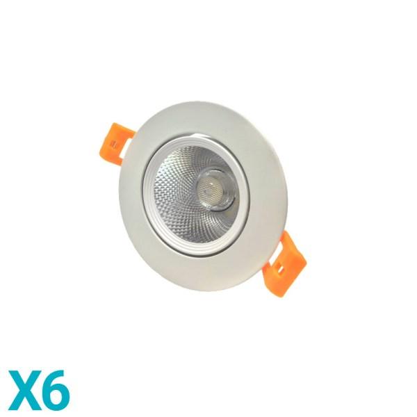 Foco Downlight LED Direccionable Circular 6,5W - Kadylux