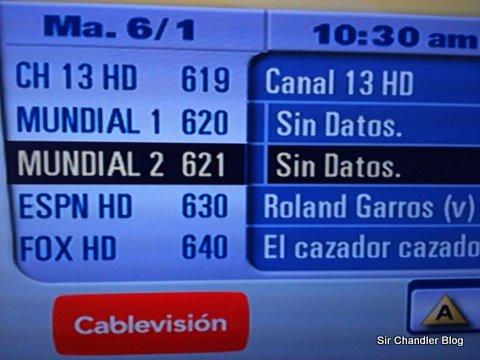 El 620 y 621 serán los canales del Mundial HD en Cablevisión