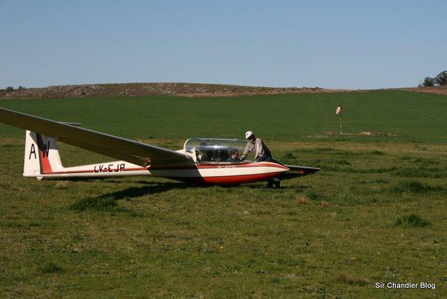 Volando en planeador por Tandil