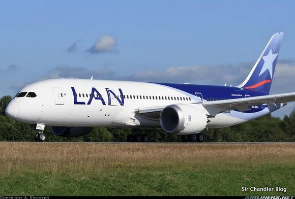 El 787 de Lan casi listo para llegar