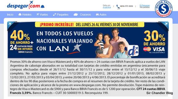 Alternativa a LAN.COM para la oferta: Despegar y agencias normales