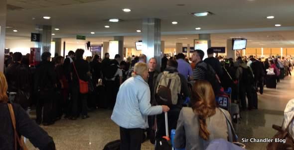 Aduana de Ezeiza: filas para extranjeros