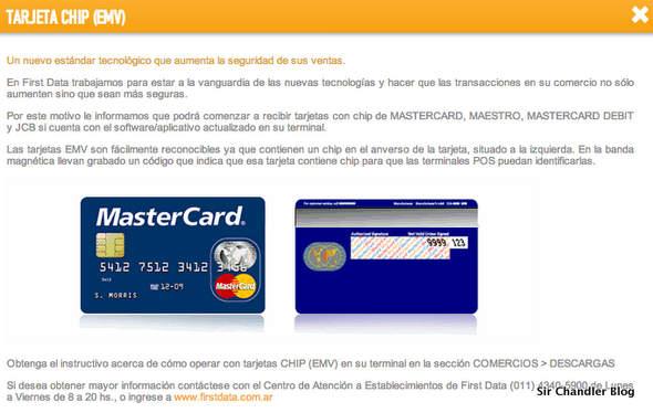 Las Mastercard en la Argentina próximas a salir con CHIP