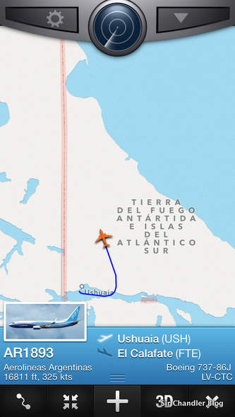 Flightradar sumó a Ushuaia en su cobertura de Argentina