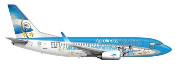 La imagen final del avión de la selección