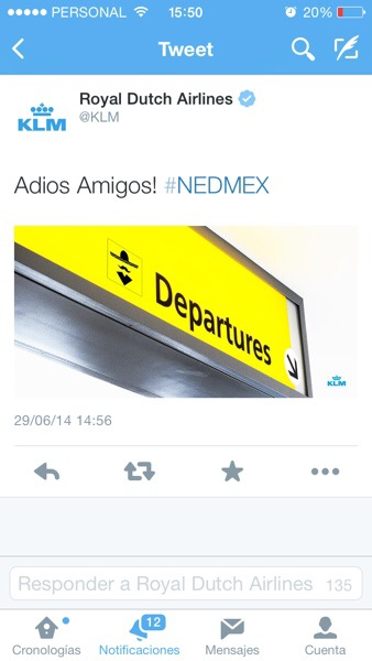 KLM gasta a los mexicanos y luego borra el tweet