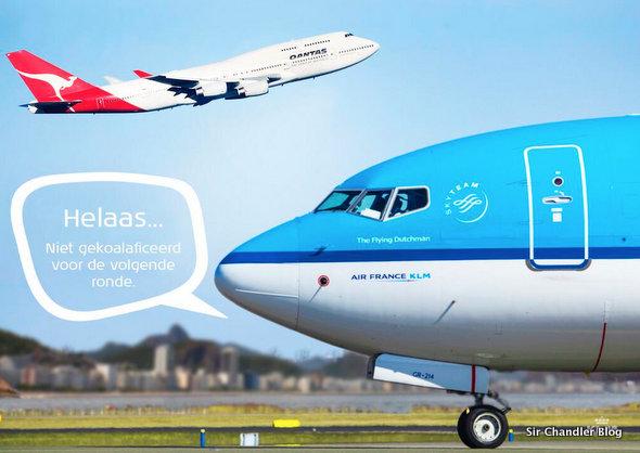 KLM gasta a Qantas por el resultado del partido