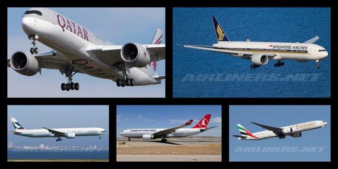 Las 100 mejores aerolíneas del mundo 2015