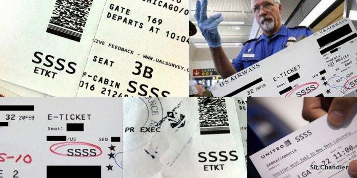 ¿Qué significan las SSSS que aparecen en un boarding pass al ir a USA?