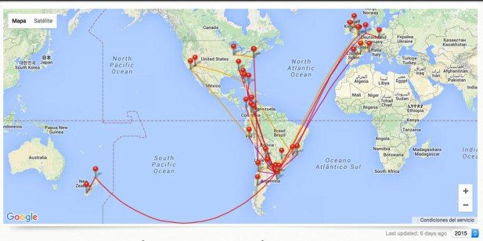 Balance de vuelos 2015: 79 aviones y 6,6 vueltas al mundo